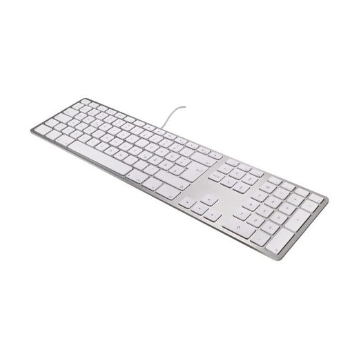 matias Apple-Tastatur (Matias Aluminium Erweiterte USB-Tastatur CH (swiss-layout) für Mac OS, silber)