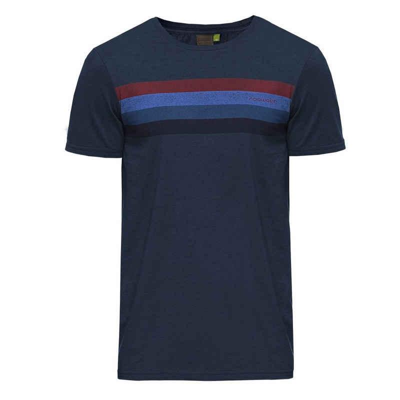 Ragwear T-Shirt »Hake Organic« mit Colorblock auf der Brust
