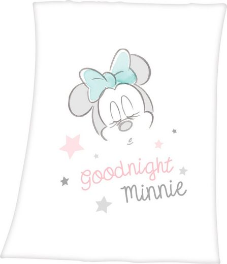 Babydecke »Minnie Mouse«, Walt Disney, mit niedlichem Minnie Mouse Design