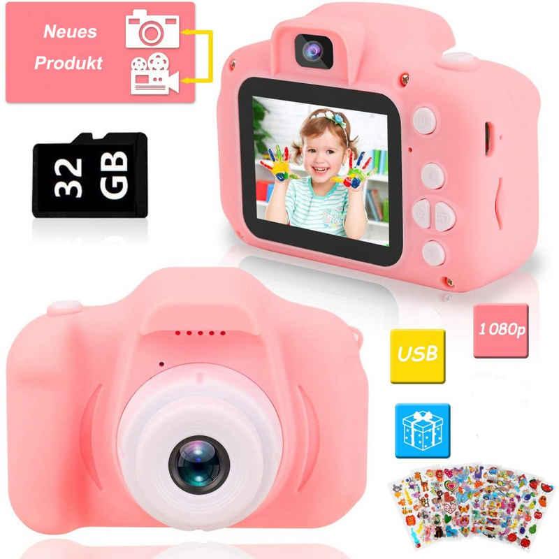 Favson »Kinder Digital Kamera Spielzeug Kleinkind Kamera Spielzeug Mädchen Jungen Geschenke Selfie Wiederaufladbare Fotokamera Spielzeug 3.5 Zoll 1080P mit 32GB TF Card für 3 bis 12 Jahre« Kinderkamera
