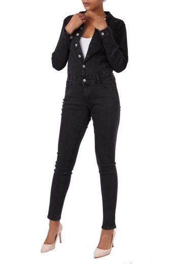 Nina Carter Jumpsuit »2659« Damen Jeans Hosenanzug CORINNE