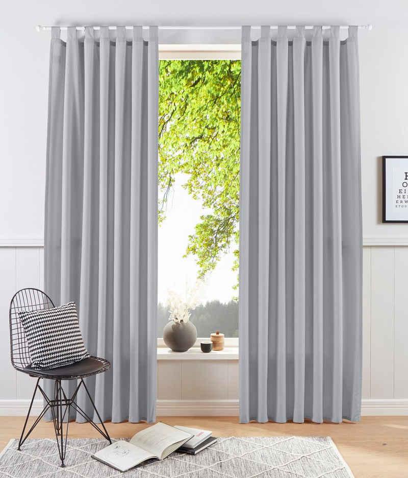 Vorhang »Raja«, my home, Schlaufen (2 Stück), blickdicht