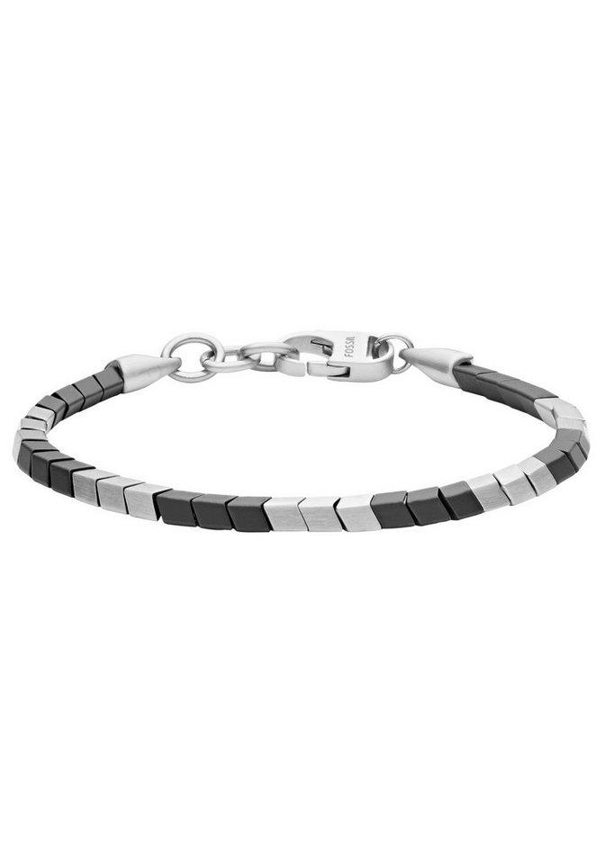 fossil -  Armband »MENS DRESS, JF03387040«, mit Hämatit