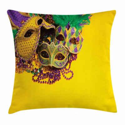 Abakuhaus Kissenbezug »Waschbar mit Reißverschluss Kissenhülle mit Farbfesten Klaren Farben Beidseitiger Druck«, Karneval Venezianische Maske Entwurf