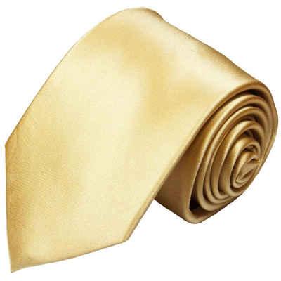 Paul Malone Krawatte »Herren Seidenkrawatte Schlips modern uni satin 100% Seide« Breit (8cm), gold sand 980