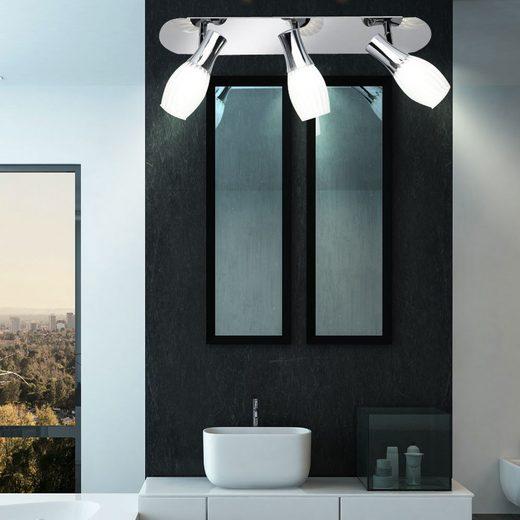 WOFI LED Deckenspot, LED 9 Watt Decken Leuchte Lampe Strahler schwenkbar Glas satiniert gestreift WOFI 7520.03.01.0000