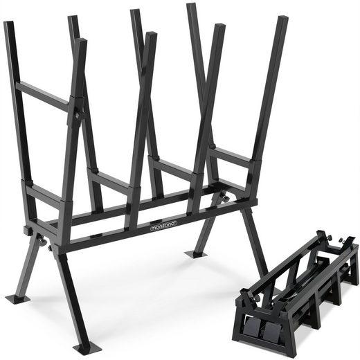 Gardebruk Sägebock, 77x50x105cm 400 kg Belastbarkeit mit Feststellbügel Höhenverstellbar Stahl Holzsägebock Holz Sägehilfe