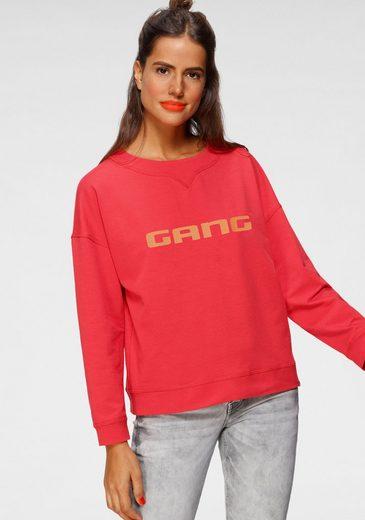 GANG Sweatshirt »Sandy« Rundhalsshirt mit Logodruck vorne