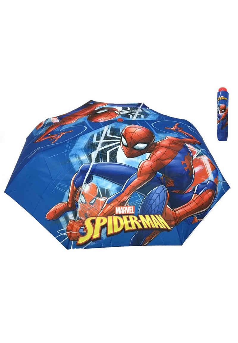 Spiderman Taschenregenschirm »Kinder Jungen Taschen-Regenschirm Knirps Klapp-Schirm«