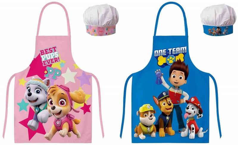 PAW PATROL Kochschürze »PAW Patrol - 2 Kinder-schürzen für Jungen und Mädchen, 45x55«, (Kinderschürze, one size), 100% Polyester