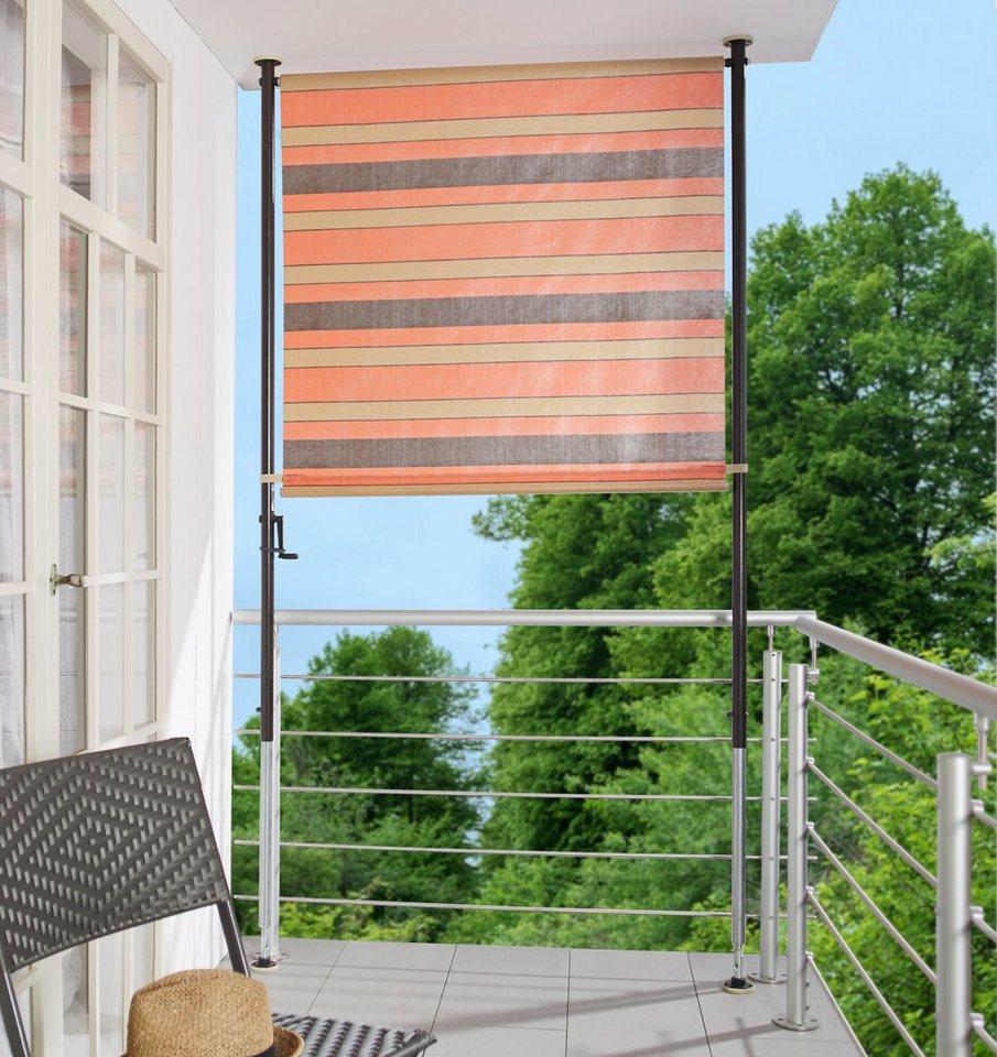 Angerer Freizeitmobel Balkonsichtschutz Orange Braun Bxh 150x225