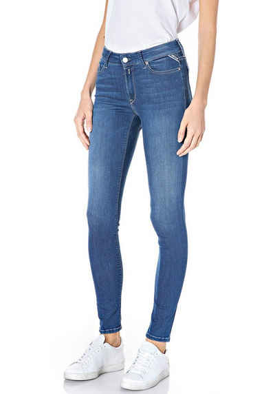 Replay Skinny-fit-Jeans »Luzien« Power-Stretch-Denim - Highwaist