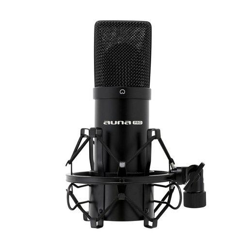 Auna Mikrofon »MIC-900B USB Kondensator Mikrofon schwarz Niere Studio«