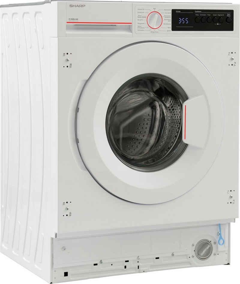 Sharp Einbauwaschmaschine ES-NIB8141WD-DE, 8 kg, 1400 U/min