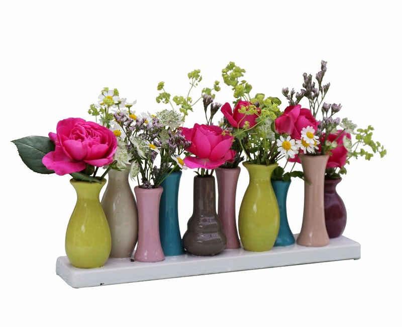 Jinfa Dekovase »Jinfa® Blumenvasen-Set, verschiedenen Farben und« (10 Vasen Set bunt, 10 Vasen)