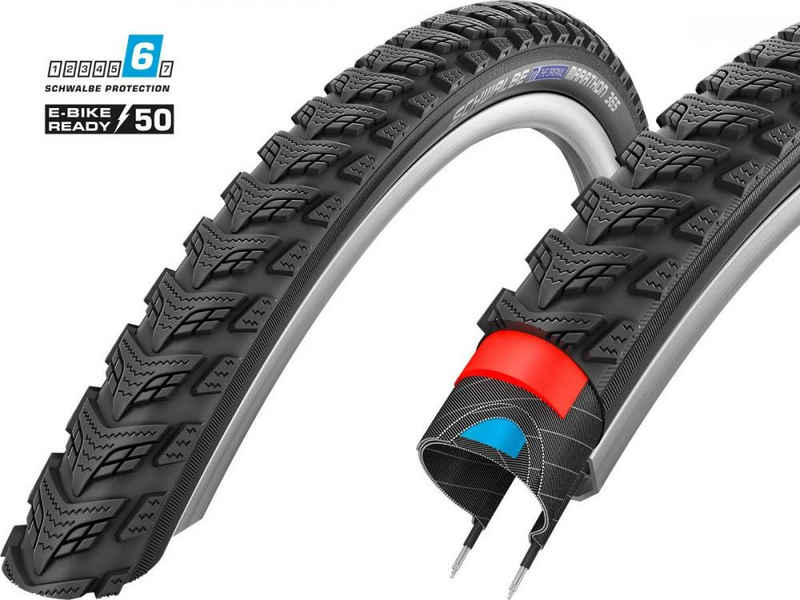Schwalbe Fahrradreifen »Reifen Schwalbe Marathon GT 365 HS475 26x2.15' 55-«