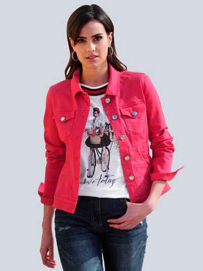 Alba Moda Jeansjacke in modischer Farbstellung