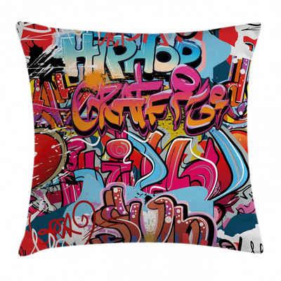 Abakuhaus Kissenbezug »Waschbar mit Reißverschluss Kissenhülle mit Farbfesten Klaren Farben Beidseitiger Druck«, Graffiti Hip Hop Street Art