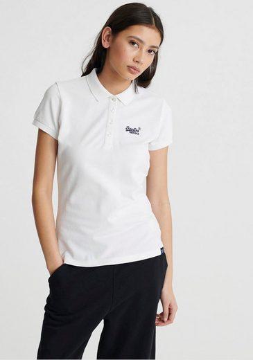 Superdry Poloshirt »SCRIPTED POLO TEE« mit dezenter Logostickerei