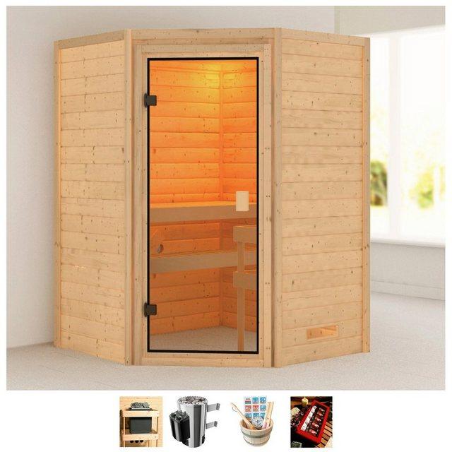 KARIBU Sauna »Anni«, 145x145x187 cm, 3,6 kW Plug & Play Ofen mit int. Steuerung | Bad > Sauna & Zubehör > Saunen | Karibu