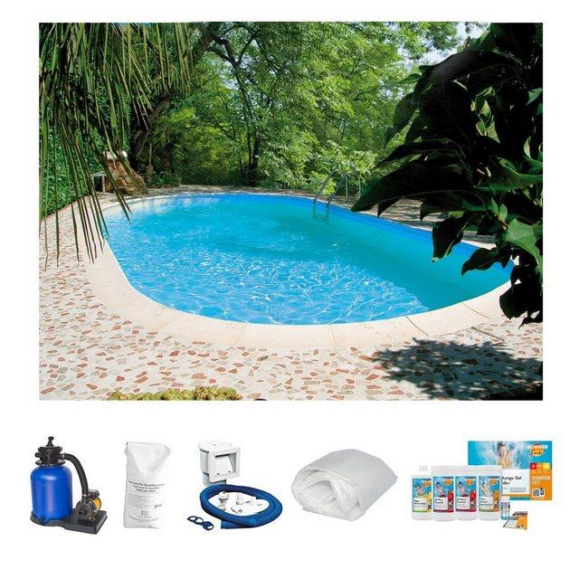 Clear Pool Set: Ovalpool Tahiti (6-tlg.)