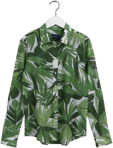 Gant Hemdbluse mit modischem Blätterprint