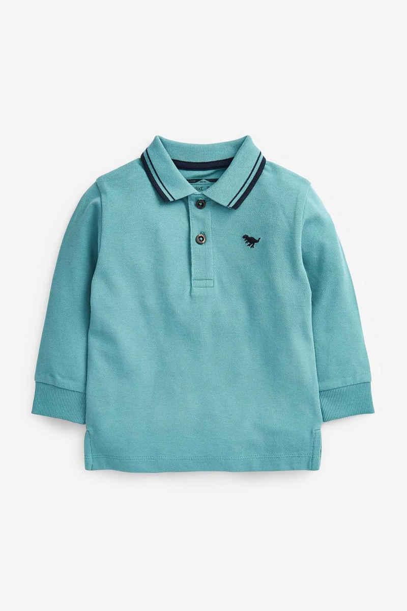 Next Langarm-Poloshirt »Langärmeliges Polohemd, Uni« (1-tlg)
