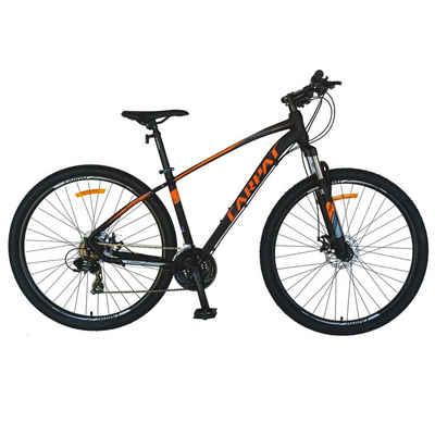 CARPAT Mountainbike »27.5 Zoll Mountainbike Herren Fahrrad MTB Hardtail«, 21 Gang Shimano Tourney Schaltwerk, Kettenschaltung, Aluminiumrahmen, Mechanische Scheibenbremse,Rahmenhöhe 45 cm