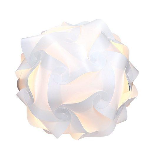 kwmobile Dekolicht, DIY Puzzle Lampe Lampenschirm - Deckenlampe Pendelleuchte Schirm Teile - Jigsaw Puzzlelampe min. 15 Designs Ø ca. 20 cm - Gr. S
