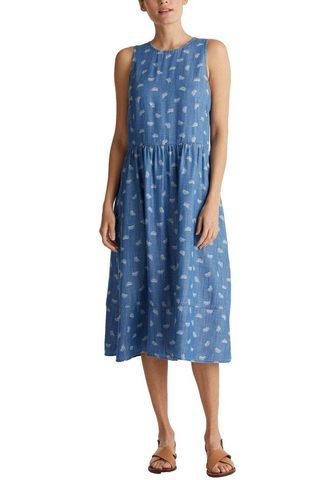 edc by Esprit Džinsinė suknelė su pasikartojantis Pr...