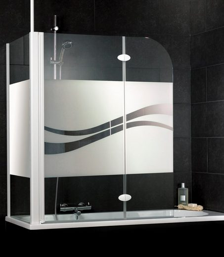 Badewannenaufsatz »Liane«, Sicherheitsglas, (2 tlg), Dekor liane