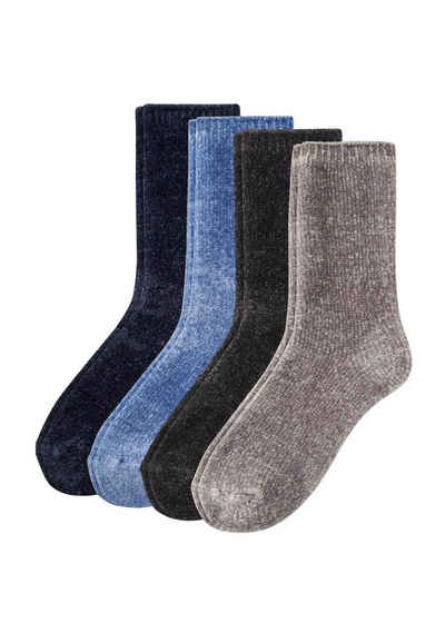 Camano Socken »Cuddly« (4-Paar) in schlichten Designs