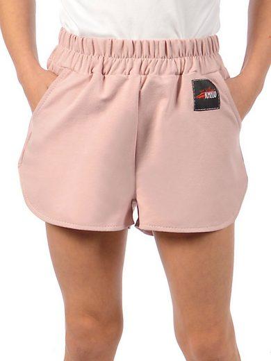 KMISSO Shorts »Mädchen Shorts mit Blumenmuster« (1-tlg) casual
