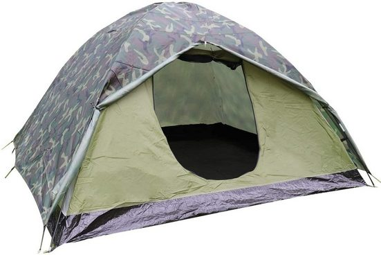 Liszton Kuppelzelt »Leicht Trekkingzelt für 3 Personen Wasserdicht, Kuppelzelt 2-3 Saison Camping Zelt für Trekking,Outdoor,Festival, 230x200x130cm, Grün«