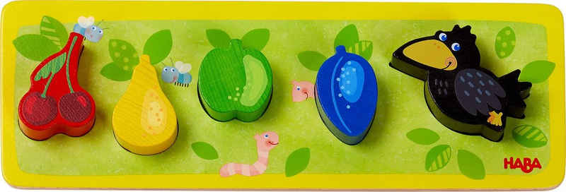 Haba Steckpuzzle »Obstgarten«, 5 Puzzleteile, Made in Germany