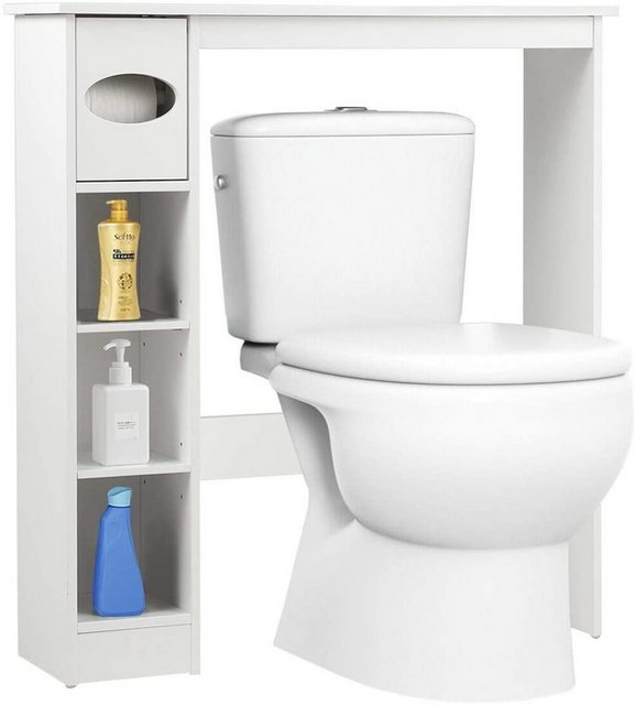 Badregale - COSTWAY Badregal »Toilettenregal Waschmaschinenregal Toilettenschrank«, mit verstellbaren Regalen  - Onlineshop OTTO