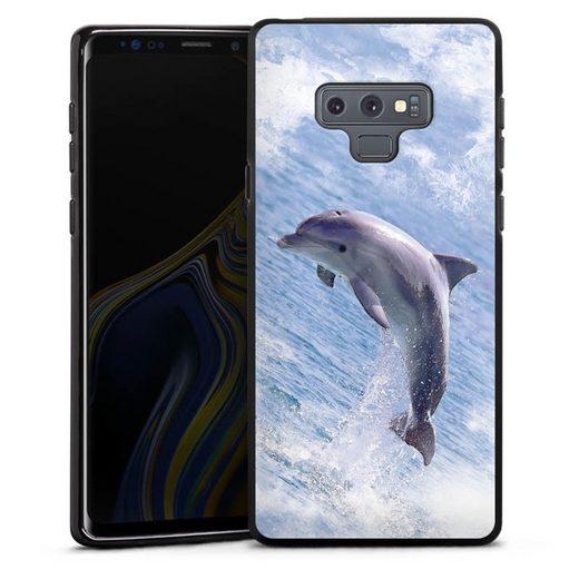 DeinDesign Handyhülle »Springender Delphin« Samsung Galaxy Note 9, Hülle Delfine Meer Wal