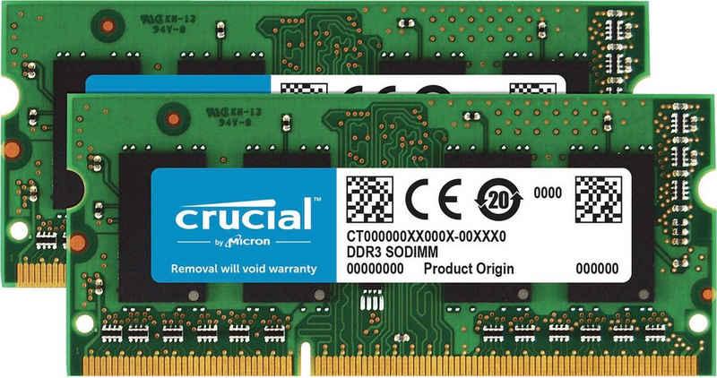 Crucial »16GB Kit (2x8GB) DDR3-1600 SODIMM« Laptop-Arbeitsspeicher