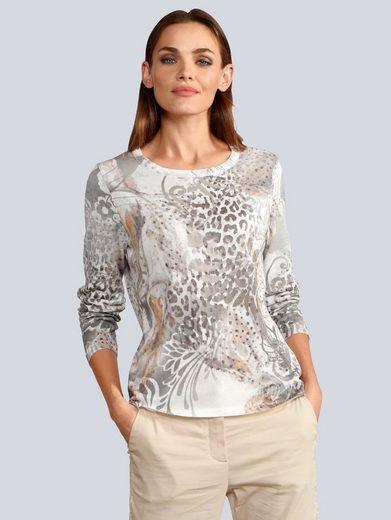 Alba Moda Rundhalspullover mit modischem Print
