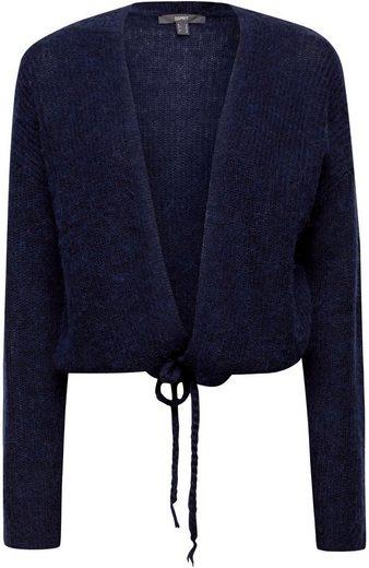 Esprit Collection Cardigan mit geflochtenen Durchzugbändern