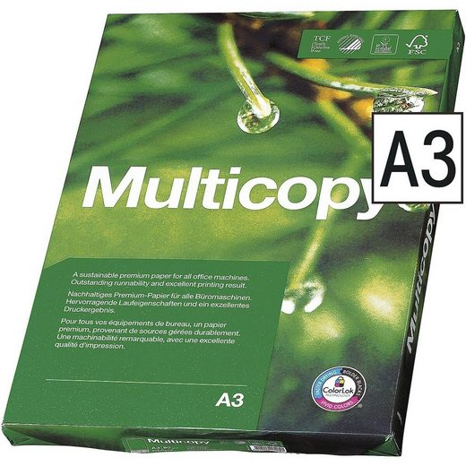 MULTICOPY Druckerpapier »MultiCopy«, Format DIN A3, 90 g/m²