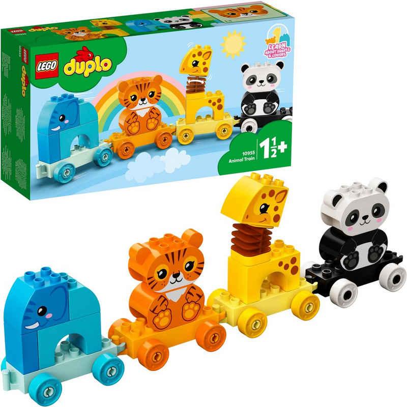 LEGO® Konstruktionsspielsteine »Mein erster Tierzug (10955), LEGO® DUPLO® Creative Play«, (15 St), Made in Europe