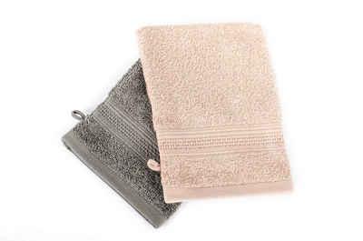 Komfortec Waschlappen »Waschhandschuh Set (16x21 cm) - Seiftuch set (30x30 cm)« (2-tlg., 2-er pack 16x21 cm)