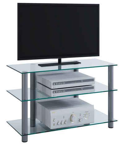 """VCM TV-Rack »TV Möbel """"Sindas"""" Alu / Glas«"""