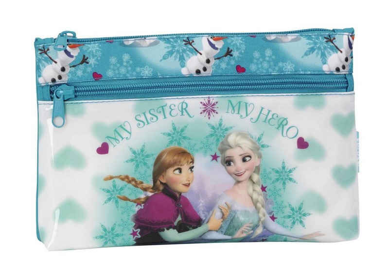 Disney Frozen Federmäppchen »Disney´s Die Eiskönigin - Mäppchen, ungefüllt, 23x16x3 cm«, (1-tlg., Mädchen), Reißverschluss