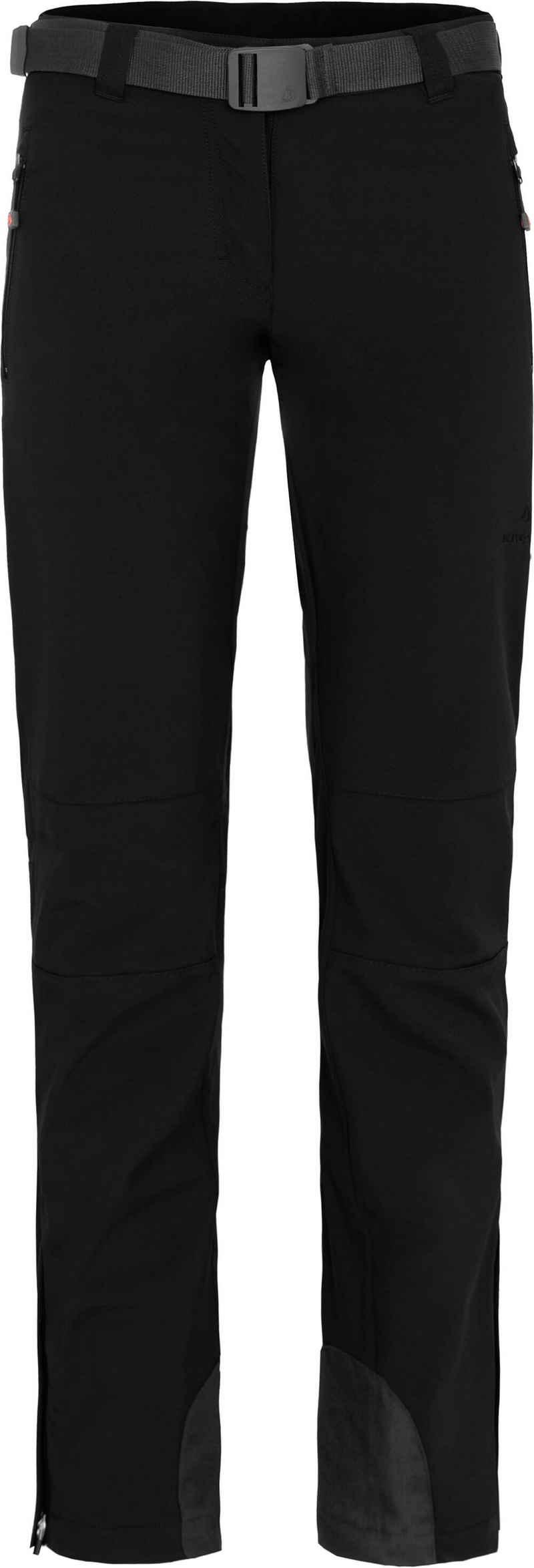 Bergson Outdoorhose »MAILA« Damen Winter Softshellhose, winddicht, warm, Normalgrößen, schwarz