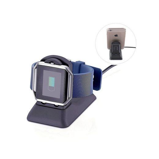 PRECORN »2in1 Ladegerät Ladestation Dockingstation für Fitbit Blaze Armbanduhr & iPhone Smartphone« Dockingstation