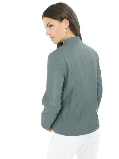 Lady Lederimitat-Blazer mit sehr hohem Tragekomfort