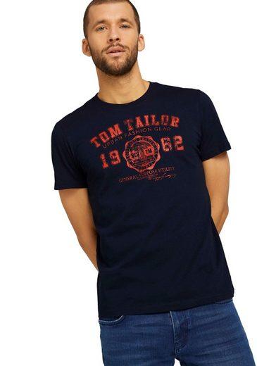 TOM TAILOR Rundhalsshirt mit Logoprint