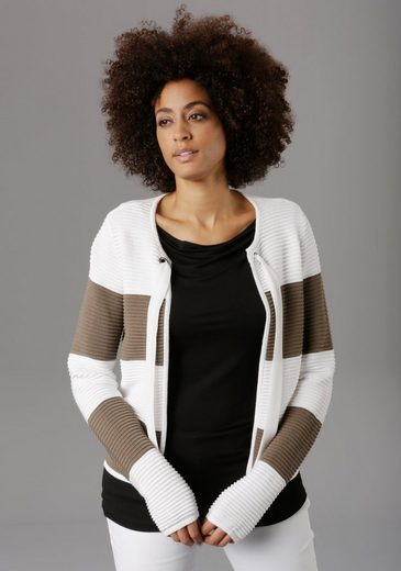 Aniston SELECTED Strickjacke in Colourblocking - NEUE KOLLEKTION